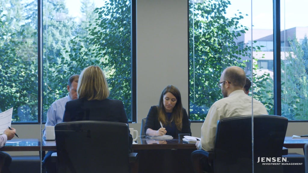 Jensen Investment Team - Board Room